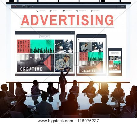 Advertising Campaign Promote Branding Marketing Concept