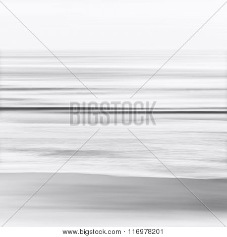 Black And White Blurred Seascape