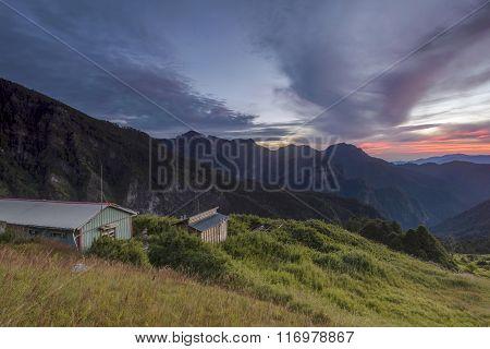 Sunrise Over The Mountain In Taiwan