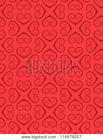 Seamless heart signs pattern. Love, birthday, Valentine day, holiday, sale texture. Twist ornament o