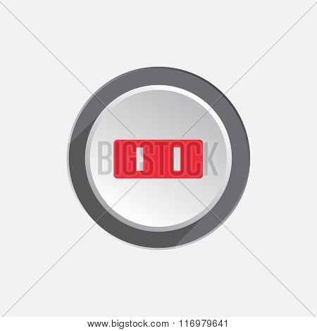 Electric plug icon. American standard. Power energy symbol. Red sign on three-dimensional white-gray