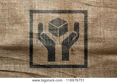 Industrial Character Of The Stamp On The Bag