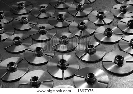Stack Of Metal Disk