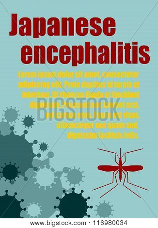 Vector Brochure, Report Or Flyer Design Template. Japanese Encephalitis Relative