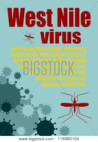 Vector Brochure, Report Or Flyer Design Template. West Nile Virus