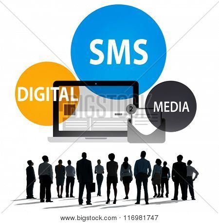 SMS Digital Media Message Chatting Communication Concept