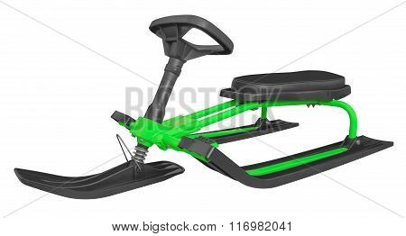 Snow Sledge Isolated - Green
