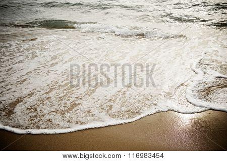 Waves in the Mediterranean Sea, Spain.