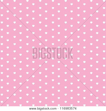 Valentine's Day and white heart on pink background. Valentine's Day and wedding day. Holiday backgro