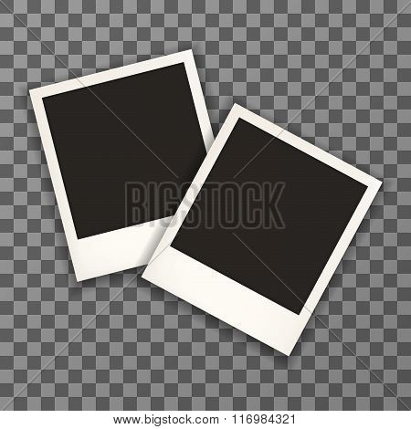 Polaroid photo frame with shadow
