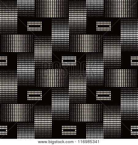 Seamless geometric background with the effect of white gold braiding