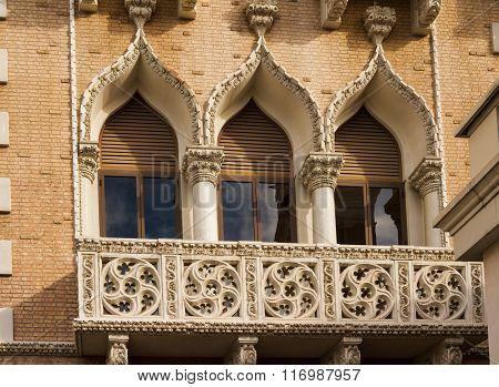 Closeup Windows Of Venetian Hotel, Las Vegas