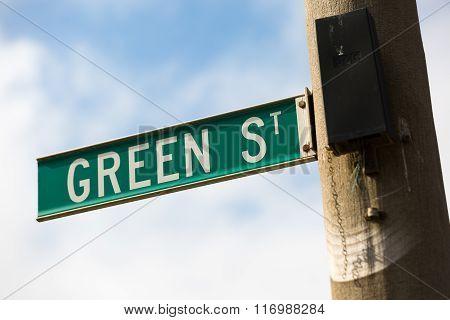 Green Street Sign - Green Street