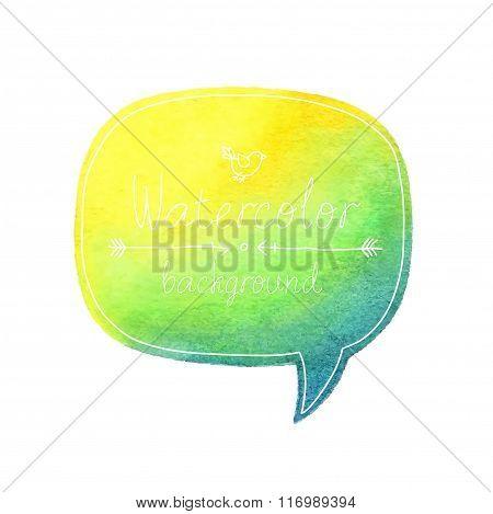 Vector Watercolor Bubble.