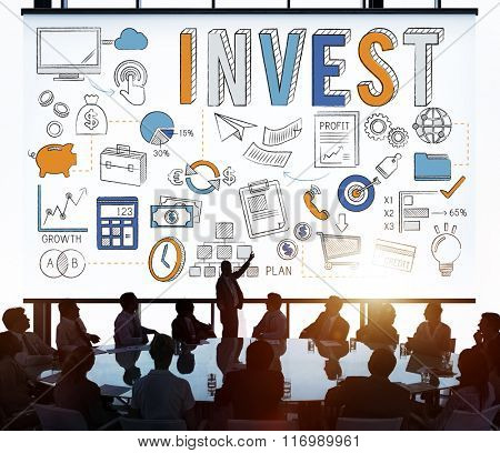 Invest Investment Finance Banking Assess Revenue Concept