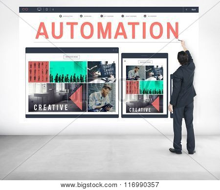 Automation Modern Technology Machine Concept
