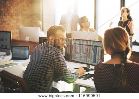 Business People Planning Financial Worksheet Bookkeeping Concept