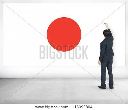 Japan Flag Patriotism Japanese Pride Unity Concept