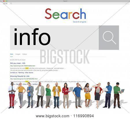 Info Information Details Statistic Concept