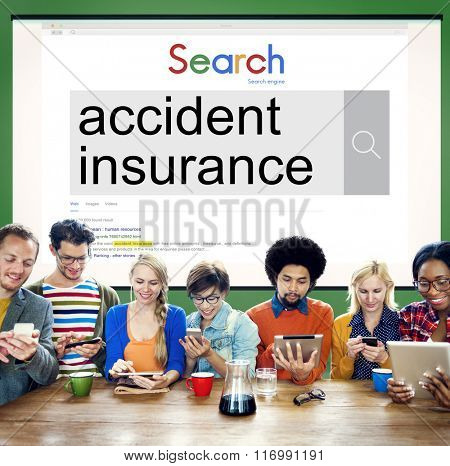 Accident Insurance Claim Policy Concept