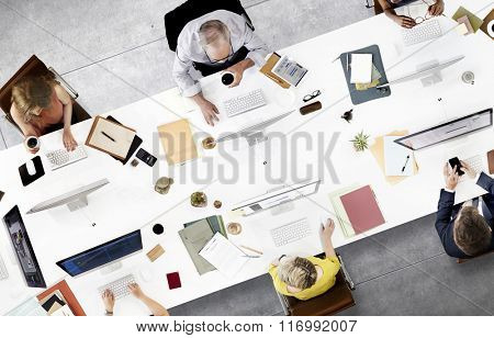 Business People Office Worker Working Concept