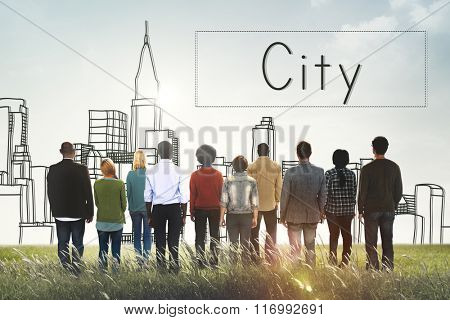 City Country Urban District Concept