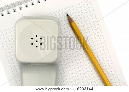 Office Phone Isolated On A White Background