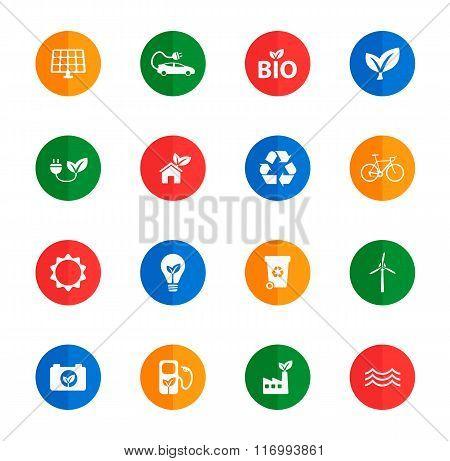 Alternative energy simply icons