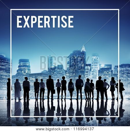 Global Business Team Expertise Cityscape Concept