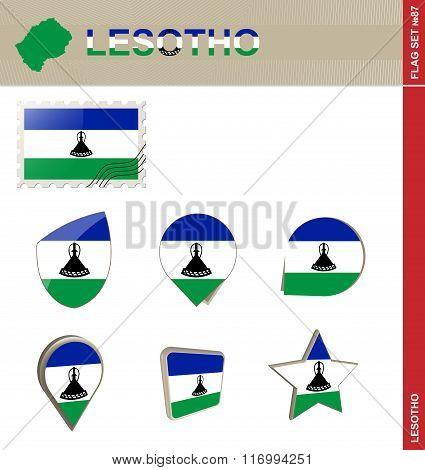 Lesotho Flag Set, Flag Set #87