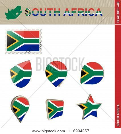 South Africa Flag Set, Flag Set #88