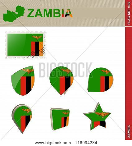 Zambia Flag Set, Flag Set #92