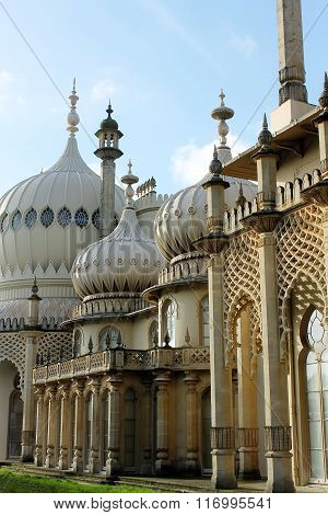 Lateral view of The Royal Pavilion in Brighton
