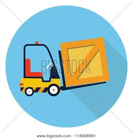 Vector forklift truck icon