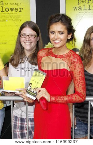 Nina Dobrev at the Los Angeles premiere of 'The Perks Of Being A Wallflower' held at the ArcLight Cinemas in Hollywood, USA on September 10, 2012.