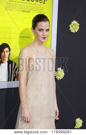 Emma Watson at the Los Angeles premiere of