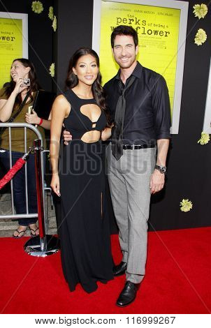 Dylan McDermott and Shasi Wells at the Los Angeles premiere of