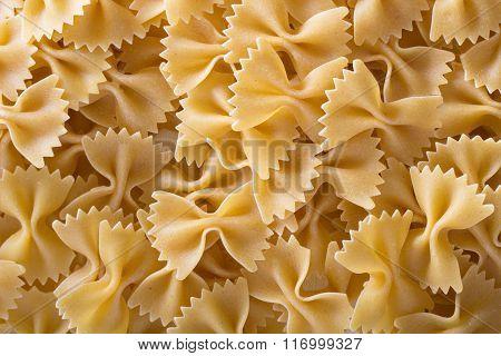 Pasta farfalle background