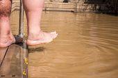 Christian Baptism In Jordan River poster