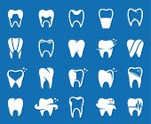 ������, ������: Vector Tooth Icons Symbols And Design Elements