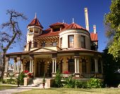 stock photo of gabled dormer window  - victorian house in the king william historic district in san antonio texas - JPG