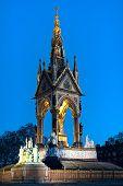 Albert Memorial, Kensington Gardens, London, England, Uk, Europe, At Dusk poster
