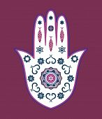 stock photo of obeah  - Jewish hamsa hand amulet  - JPG