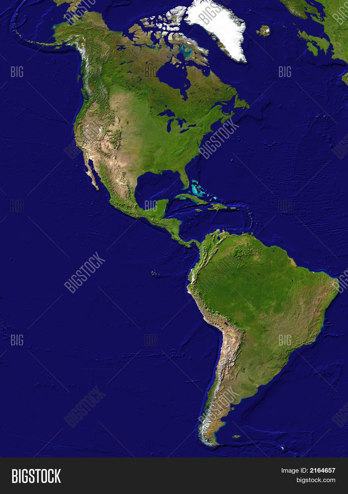 Map American Continent Image & Photo | Bigstock