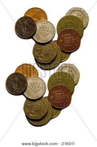 Geld isoliert Münze