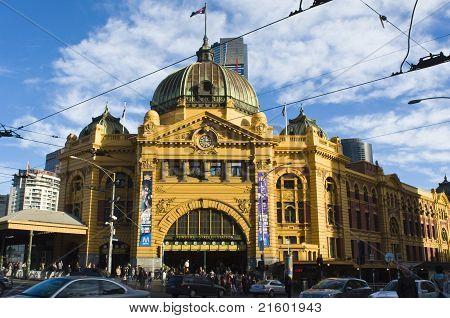 Flinders Street Station in the Afternoon Sun, Melbourne, Australia