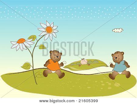 tarjeta de felicitación de la ducha de bebé