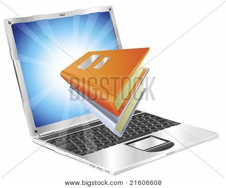 Books Icon Laptop Concept