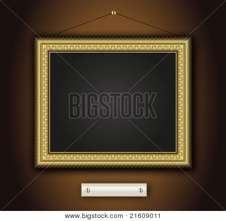 Frame old antique gold Baroque vintage picture classic vector