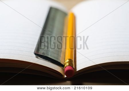 Opened School Book